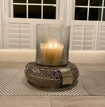Load image into Gallery viewer, Decorative Iron and Glass Hurricane Candle Holder For Home Decor (DH3053)