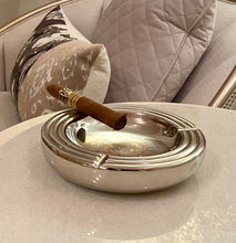 Load image into Gallery viewer, Modern Silver Round Aluminum Ashtray | Metal Ashtray (DH10007)