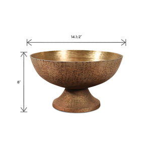 Aluminum Decorative Fruit Bowl For Dining Table | Decorative Metal Bowl  (DH1021A)