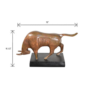 Aluminum Decorative Standing Bull | Home Decor Accent (DH4008)
