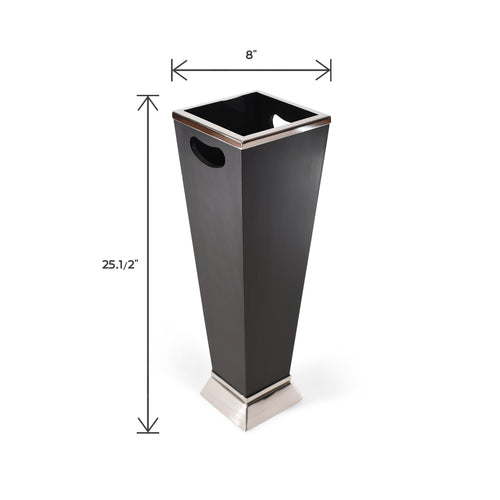 Tall Stainless Steel and Wooden Umbrella Stand | Umbrella Holder (DH8012)