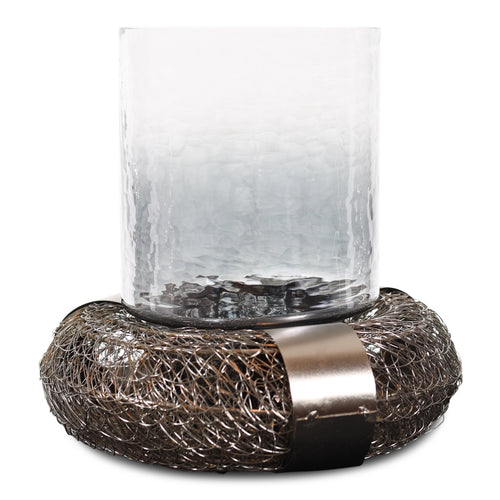 Decorative Iron and Glass Hurricane Candle Holder For Home Decor (DH3053)