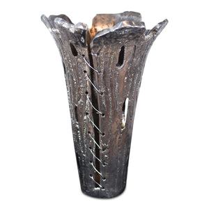 Decorative Tall Aluminum Broken Flower Vase | Home Decor Vase (DH3017)