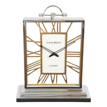 Load image into Gallery viewer, Decorative Square Rustic Aluminum and Steel Clock | Vintage desk Clock (DH10001)