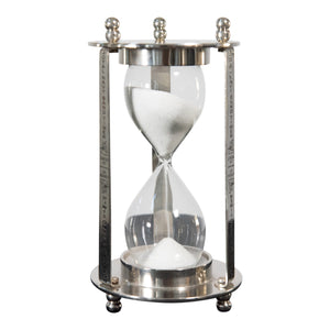 Decorative Aluminum and Brass Hourglass Sand Timer | Hourglass Clock (DH4033)