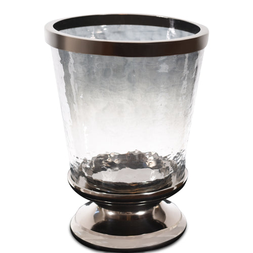 Metal Decor Aluminum Ring Hurricane Candle Holder with Pillar Glass (DH3046)