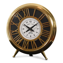 Load image into Gallery viewer, Vintage Brass and Steel Table Clock For Living Room Decor (DH10009)
