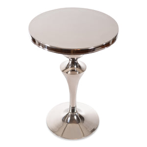 Modern Aluminum Round Side End Table | Metal Accent Table (DH8033)