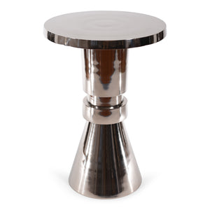 Modern Decorative Round Aluminum Table | Accent End Table (DH8039)