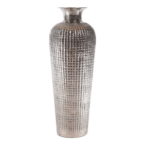 Decorative Aluminum Tall Floor Vase | Metal Floor Vase Decor (DH3037)