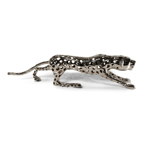 Aluminum Decorative Leopard | Metal Sculptures Home Decor (DH4039)