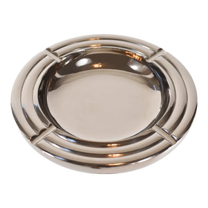 Tall Silver Aluminum Ashtray On Stand | Floor Standing Ashtray (DH10004)