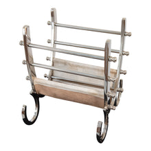 Load image into Gallery viewer, Aluminum and Steel With Hair Leather Magazine Holder | Magazine Rack (DH8026)