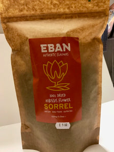 Eban 100% Dried Hibiscus Flower Sorrel 100g