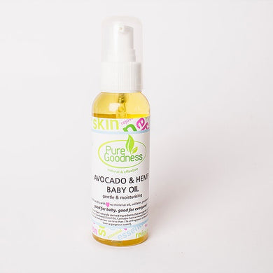 Pure Goodness - Avocado and Hemp Baby Oil