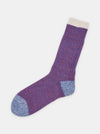 Patapaca Melange Socks - Purple Marl