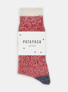 Patapaca Melange Socks - Red Marl