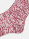 Patapaca Raw Socks - Burgundy Marl