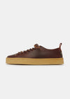 Rufus Womens Leather Shoe - Mahogany
