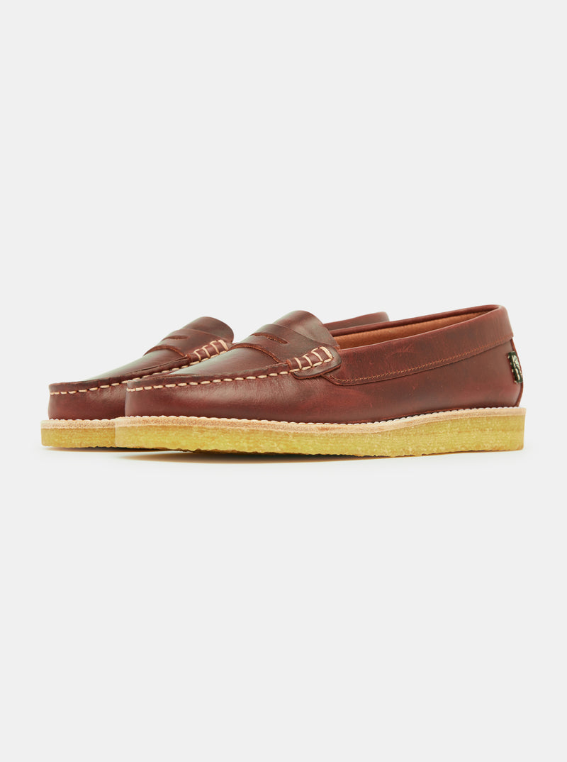 Rudy Womens Leather Loafer - Mahogany