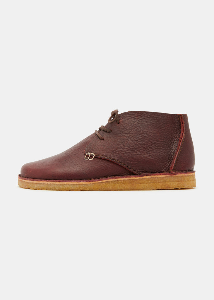 Glenn Tumbled Leather Boot - Burgundy