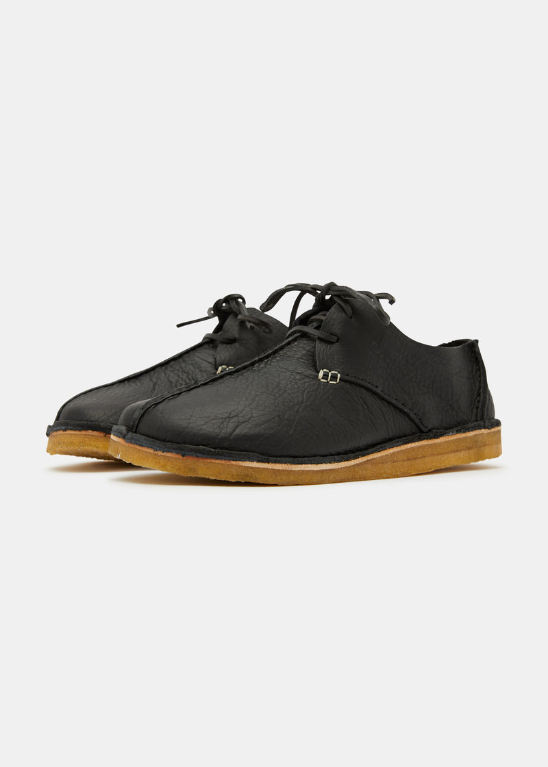 Caden Centre Seam Leather Shoe- Black