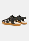 Elba Tumbled Leather Sandal - Black
