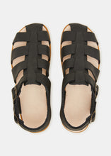 Load image into Gallery viewer, Elba Tumbled Leather Sandal - Black