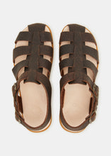Load image into Gallery viewer, Elba Tumbled Leather Sandal - Dark Brown