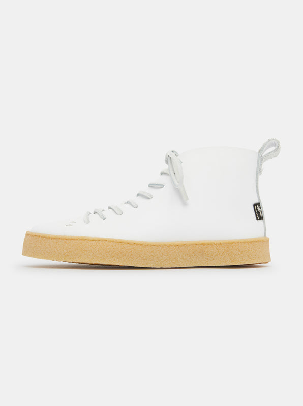 Winstone Leather Boot - White