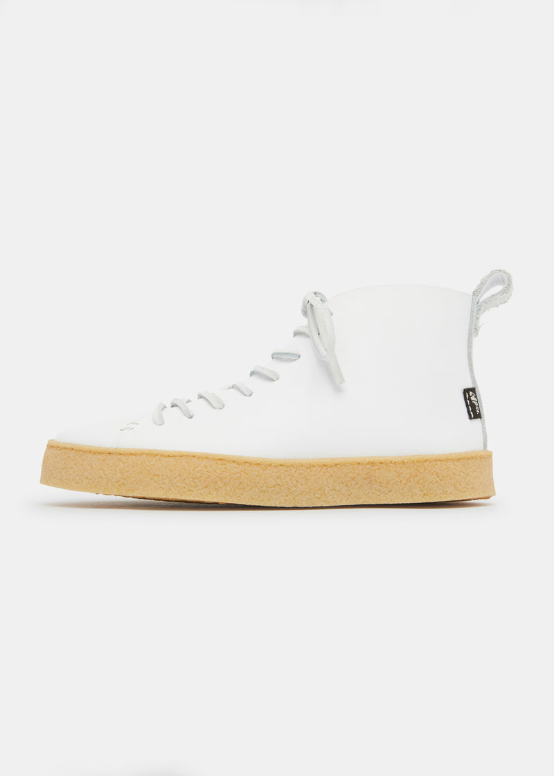 Winstone Womens Leather Crepe Boot - White