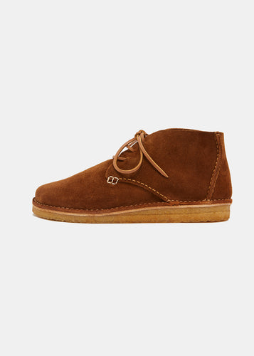 Glenn Suede Boot - Cola Brown