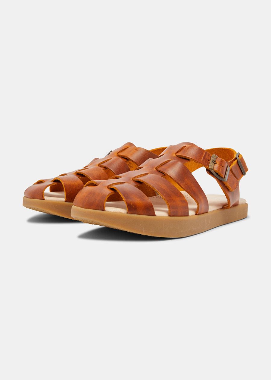 Elba Leather Sandal - Apricot
