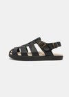 Elba Tumbled Leather Sandal - Recycled Outsole - Black