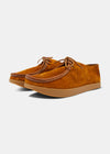 Willard Reverse Leather Shoe - Chestnut Brown