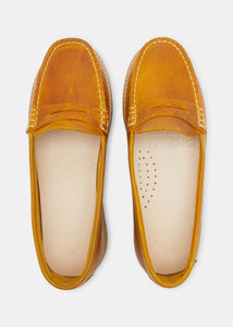 Rudy Womens Leather Loafer - Canary Yellow