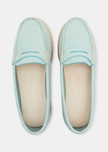 Load image into Gallery viewer, Rudy Womens Nubuck Loafer - Light Blue