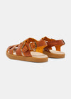 Elba Womens Leather Sandal - Apricot