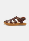 Elba Womens Leather Sandal - Mahogany