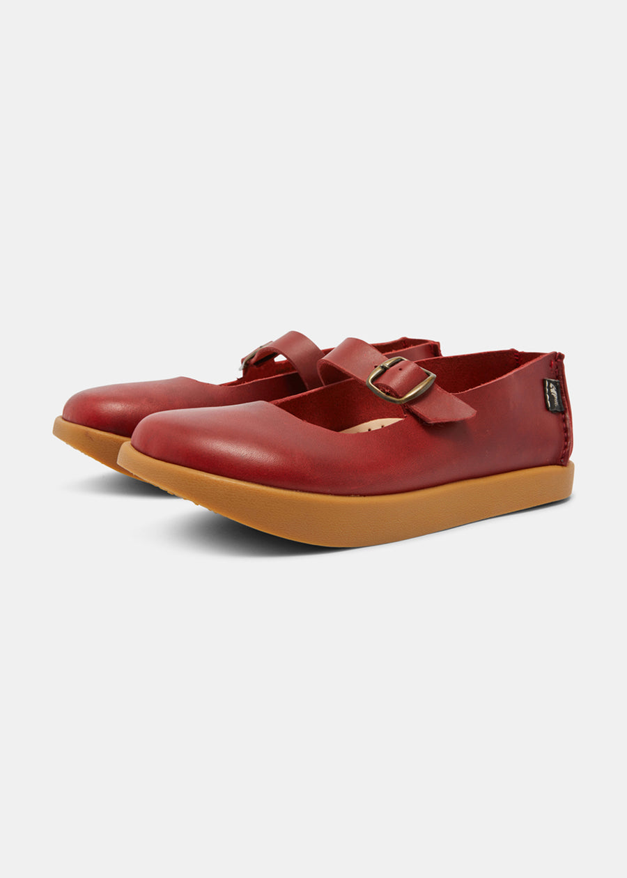Sharpe Womens Leather Sandal - Scarlet