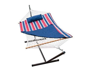 Algoma Cotton Rope Hammock with Stand