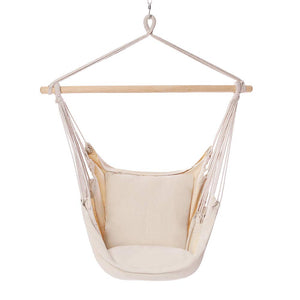 Hanging Chair with Cotton Rope for Indoor & Outdoor - POPCLEAR
