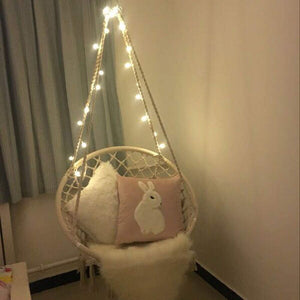 Macrame Hammock Chair with LED Lights - Sonyabecca