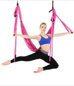 Aerial Yoga Swing with Extensions Straps, Carabiners and Carrying Bag - Bormart