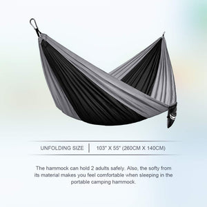 Single & Double Parachute Camping Hammock with Nylon Ropes - JBM