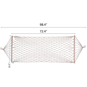 Outdoor Cotton Rope Bed with Spreader Bar - Dj siphraya