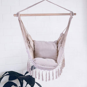 Cotton Weave Hammock Chair Hanging Rope Swing - Huaze