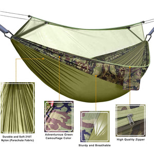 Camping Hammock with Mosquito Net - Hieha