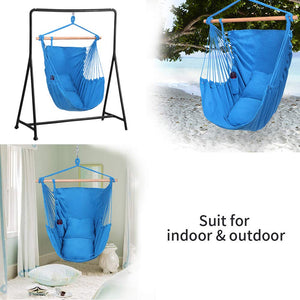 XXL Large Hanging Rope Hammock Chair Swing with Pillows - OnCloud