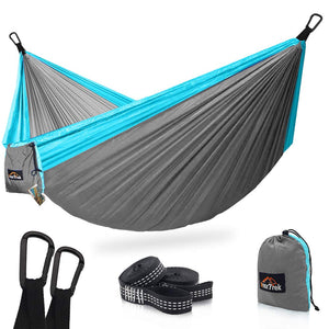 Light Blue Camping Hammock - AnorTrek